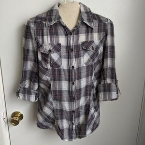 Mudd plaid button up shirt